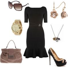 Just Black and Brown, created by valelov on Polyvore