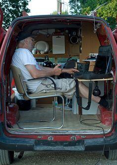 The British - Richard Donkin Car Camper, Mini Camper, Rv Campers, Camper Trailers, Caravan Home, Kombi Home, Kangoo Camper, Truck Living, Radios