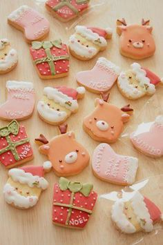 X'mas cookies these are so cute! I would love to try my hand at making such cute cookies!