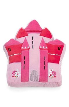 Girl's KAS Designs Castle Plush Pillow - Pink