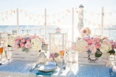 An elegant beachfront party is always a good idea.