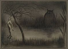 Alfred Kubin – is usually categorised as an Expressionist, but I'm going to put my foot down, despite having no qualifications as an art historian, and call him a Symbolist. Dark Artwork, Artwork Images, Metal Artwork, Illustrations, Illustration Art, Alfred Kubin, Creepy Paintings, Scary Art, Digital Museum