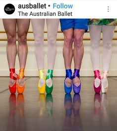 The Australian Ballet Ballet Dancers, Ballet Shoes, Ballet Art, Ballerinas, Dancers Feet, Dance Shoes, Australian Ballet, Rainbow Fashion, Rainbow Aesthetic
