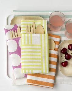 tea towels = great napkins + placemats