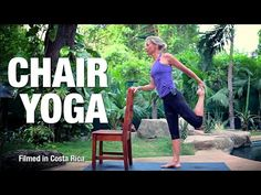 This 30 minute yoga class introduces postures to increase strength in the spine and the core using a chair as support. If you are looking for a yoga class th. Qi Gong, Yoga Videos, Workout Videos, Exercise Videos, Workouts, Senior Fitness, Yoga Fitness, Health Education, Physical Education