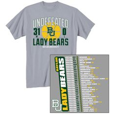 2011-12 Baylor Lady Bears Basketball Undefeated Season T-Shirt