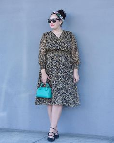 This dress is on the blog today and it's a must-have for 3 reasons: 1) $39.99 in XS-4X is a STEAL 2) long sleeves and 3) cheetah print (duh!).  Details are in the post linked in my profile. #ontheblog