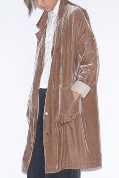No.6 Colet Velvet Overcoat in Chesnut