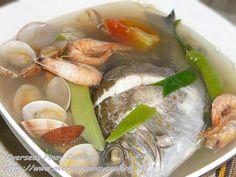 Seafood Tinowa, Towang Danggit, Shrimps and Clams