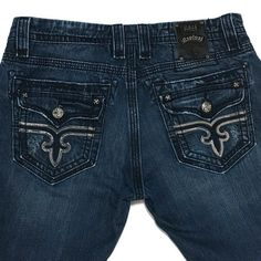 Rock Revival Jeans Timothy Straight Tinted Distressed 36 (Actual 38.5) 33L  | eBay
