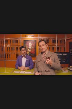 Jude and Jason in The Grand Budapest Hotel