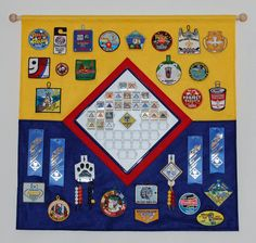Cub Scout patch display banner
