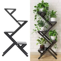 Comprar 4 Tier Plant Stand Flower Pot Rack Indoor Outdoor Planter Holder Display Shelf em Wish - Comprar ficou mais divertido Room With Plants, House Plants Decor, Plant Decor, Outdoor Planters, Indoor Outdoor, Tiered Outdoor Plant Stand, Plant Shelves Outdoor, Decoration Plante, Balcony Plants