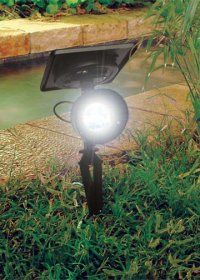 The Gama Sonic Progressive Solar Landscape Spotlight with Bright-White LED provides the perfect light arrangement for your outdoors. Available in black finish, the spotlight has a durable cast aluminum construc Solar Flood Lights, Solar Spot Lights, Solar Powered Lights, Solar Panel Cost, Solar Panels For Home, Landscape Lighting, Solar Power Batteries, Solar Lamp