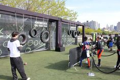 On Pier 46, students from the Public Schools Athletic League competed in a series of on-site activities, including a timed...
