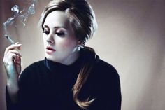 Adele smoking