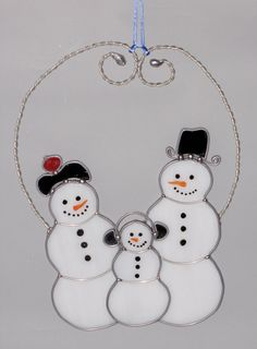 Christmas+Holiday+Stained+Glass+Suncatcher++Winter+by+GLASSbits,+$40.00