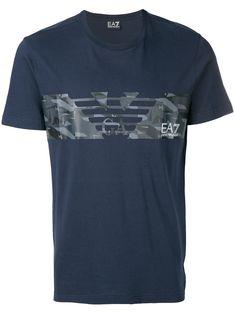 3f2606b61184 Shop Emporio Armani logo print T-shirt