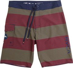Striped boardshort, an understated fourth of July look.http://www.swell.com/New-Arrivals-Mens/RVCA-CIVIL-STRIPE-BOARDSHORT-3?cs=NV