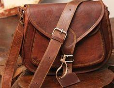 9 11 13 inches Handmade Crossbody Genuine Leather Purse Retro Women Handbag  Leather Messenger Bag Sa faad14867fd65