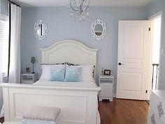 Benjamin Moore Gl Slipper Wood Bedroom White Mirrors Funky