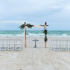 #beachwedding #weddingarch #ceremonyarch #destinationwedding #weddingflowers Unity Ceremony, Beach Ceremony, Beach Weddings, Simple Weddings, Driftwood Beach, Photo Packages, White Gardens, Garden Chairs, Ceremony Decorations
