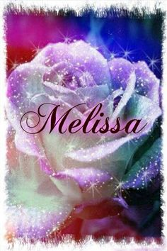 Melissa Name, Beautiful Images, Beautiful Flowers, Winter Rose, What Is Your Name, Purple Love, Love Notes, Flower Making, All The Colors