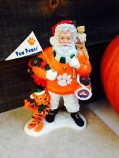 Clemson University NCAA Danbury Mint Volunteer Team Santa-Go Tigers !!