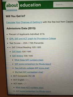 Unit 11 Standardization: I am looking up the SAT scores required for Providence College so I can compare my SAT scores.Standardization makes sure that the scoring procedures are the same for all SATs so that comparing is on the same level.