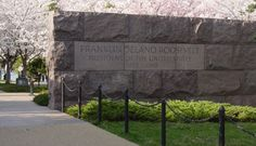 """Designed by Lawrence Halprin in 1978, the Franklin Delano Roosevelt (FDR) Memorial was built to honor the 32nd president of the United States. The monument is divided into four outdoor """"rooms,"""" signifying FDR's four terms in office. The National Park Service estimates that 2.8 million people visit the monument per year. - See more at: http://washington.org/DC-guide-to/franklin-delano-roosevelt-memorial#sthash.jkIqv51S.dpuf"""