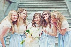bridesmaid skirt and top instead of a dress. love this!