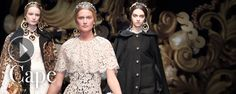 Dolce and Gabbana FW2013 Video Must have Womenswear Baroque collection capes - Swide