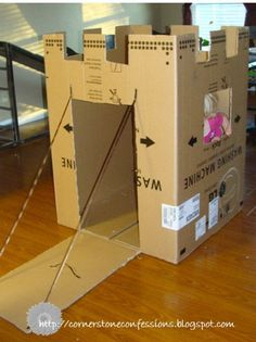 16 Cardboard Box Crafts for Kids Cardboard Box Crafts for Kids . 16 Cardboard Box Crafts for Kids . 22 Incredible Kids toys You Can Make From Cardboard Boxes Cardboard Box Castle, Cardboard Box Crafts, Cardboard Box Ideas For Kids, Cardboard Playhouse, Cardboard Paper, Cardboard Furniture, Cardboard Sculpture, Castle Playhouse, Cardboard Houses For Kids