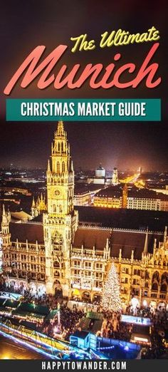 THE best and most thorough guide out there for Munich Christmas Markets! Don't miss this guide if you're planning on visiting Munich, Germany for Christmas Markets. Includes the best markets to visit, what to do, what to eat and more. Christmas Markets Germany, German Christmas Markets, Christmas Markets Europe, Christmas Travel, Holiday Travel, German Markets, Christmas Destinations, Visit Munich, Visit Germany