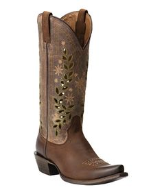 Loving this Weathered Mocha Arrosa Leather Cowboy Boot - Women on #zulily! #zulilyfinds