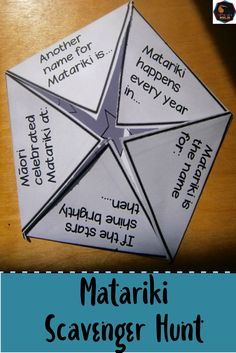 Matariki Scavenger Hunt for New Zealand Classrooms. Great tool for Bicultural New Zealand.Are you looking for an activity that explains the basics of Matar Interactive Activities, Hands On Activities, Preschool Activities, Interactive Notebooks, Montessori Art, Montessori Elementary, Maori Words, Cvc Worksheets, Holiday Program