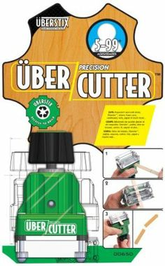 Uberstix Ubercutter by Patch Products. $17.67. Simply place the item you want cut into the clear slot of the machine, twist the knob and ta-da!?the outcome is a precise, clean-cut item that is sure to impress. The ÜberCutter delivers precise straight cuts, common angles and everything in between. Say goodbye to pesky nicks, cuts and pinched fingers and hello to a kid-friendly, safe, new cutting tool and the UberCutter makes precision cuts safely. Easy to use, the ...