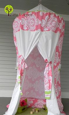 DIY canopy tent with a hula hoop and sheets. For the kid's room? Christmas Gifts For Girls, Handmade Christmas Gifts, Girl Room, Girls Bedroom, Bedrooms, Diy Canopy, Canopy Tent, Diy Tent, Tent Craft