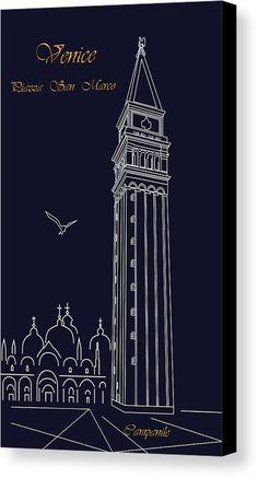 Venice.Campanile MarinaUsmanskayaFineArtDigitalArt,Venice,,Blue,FineArtPrint