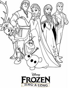 and elsa coloring page disney frozen