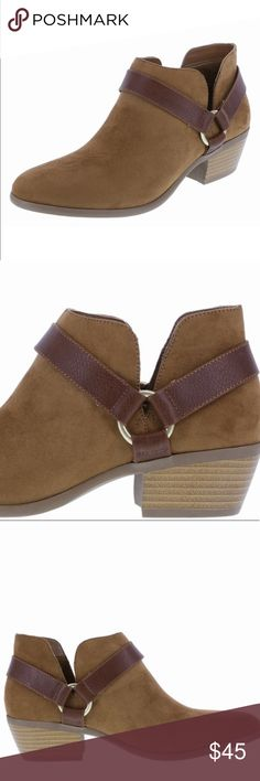 🚨Hurry! Comfy Toffee Ankle Booties for Fall! 🍁🍃 Awesome comfy toffee ankle booties with a super cushy heel. They feel more like sneakers on! Incredible. The harness design give them a unique boho chic twist. You can't lose with these ankle boots! I have a pair in my size. Here are some hard to find diamonds in the rough. Someone's closet is in dire need. Your feet will thank you- we promise👯 Shoes Ankle Boots & Booties