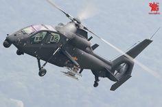 Aviones Caza      Harbin Z-19   Papel  Reconocimiento y ataque de un helicóptero Fabricante  Harbin Aeronaves Manufacturing Corporation Primer vuelo 2011 Introducción 2012 Estado En el servicio Usuario principal  China Fuerza Aérea del Ejército Popular de Liberación Número construido   80 a partir del 01/11/2014