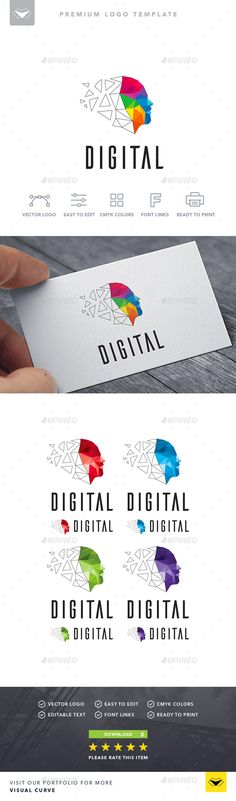 Digital Logo Digital Logo The post Digital Logo appeared first on Best Of Daily Sharing. Marca Personal, Personal Logo, Logo Design, Identity Design, Library Logo, Website Logo, Logo Color, Grafik Design, Program Design