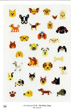 Cross Stitch dogs (mini cross stitch pattern)... love these, the book itself cost $32 USD on Esty