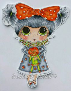 INSTANT DOWNLOAD digitale Digi Stamps Big Eye Big Head Dolls