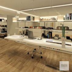 Home-office por Fernanda Marques #homedecor #interiordesign #decoração