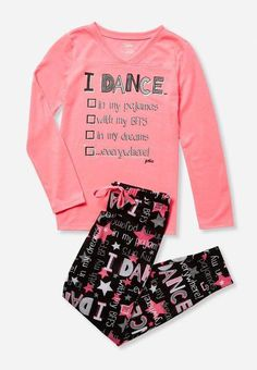 56c45f7f36f Justice is your one-stop-shop for on-trend styles in tween girls clothing    accessories. Shop our Dance Pajama Set - MOOS.