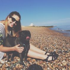 Zoella and Edgar on the beach!:)
