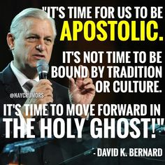 """It's time for us to be apostolic."""