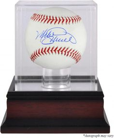 4f083351bff Mike Schmidt Philadelphia Phillies Autographed Baseball and Mahogany  Baseball Display Case - Authentic Signed